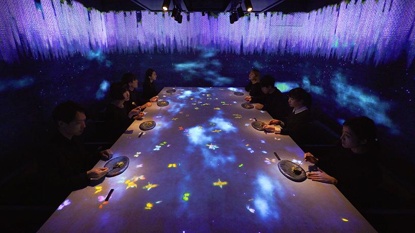 チームラボの作り出す世界と、Sagaya銀座が提案する料理が融合。特別な食事空間を銀座で