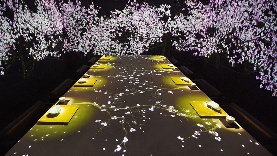 夜桜が舞い散る空間で特別なひとときを